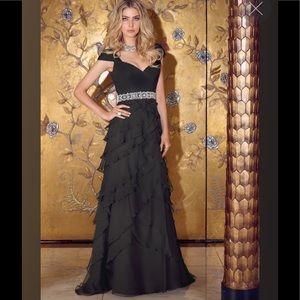 VM Collection black prom dress